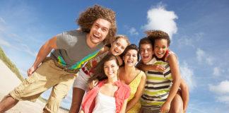 Nastolatek na wakacjach za granicą